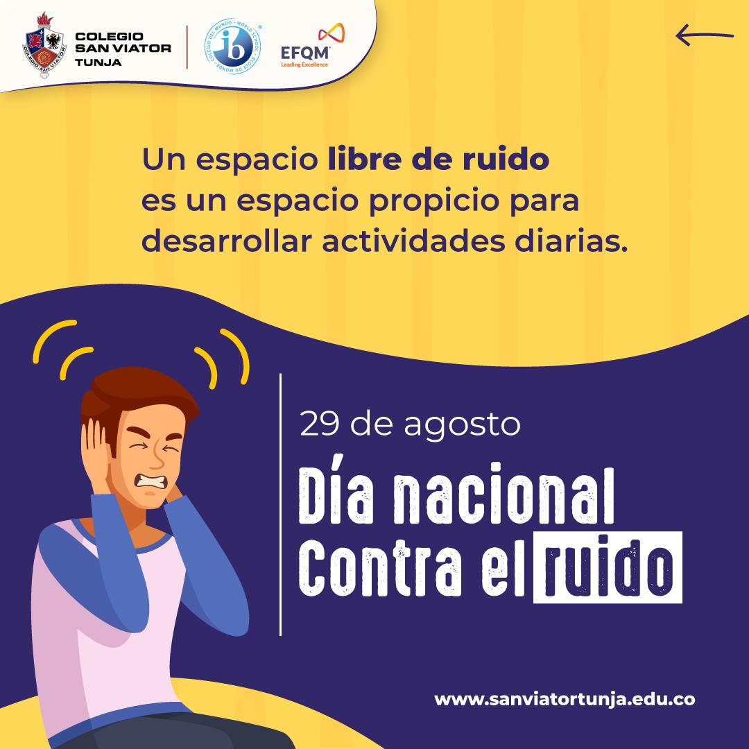 Día nacional contra el ruido 29 de agosto